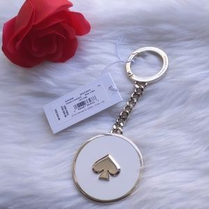 Kate Spade Enamel Spade Keychain Fob Bag Charm BWT